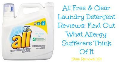 all free and clear detergent reviews