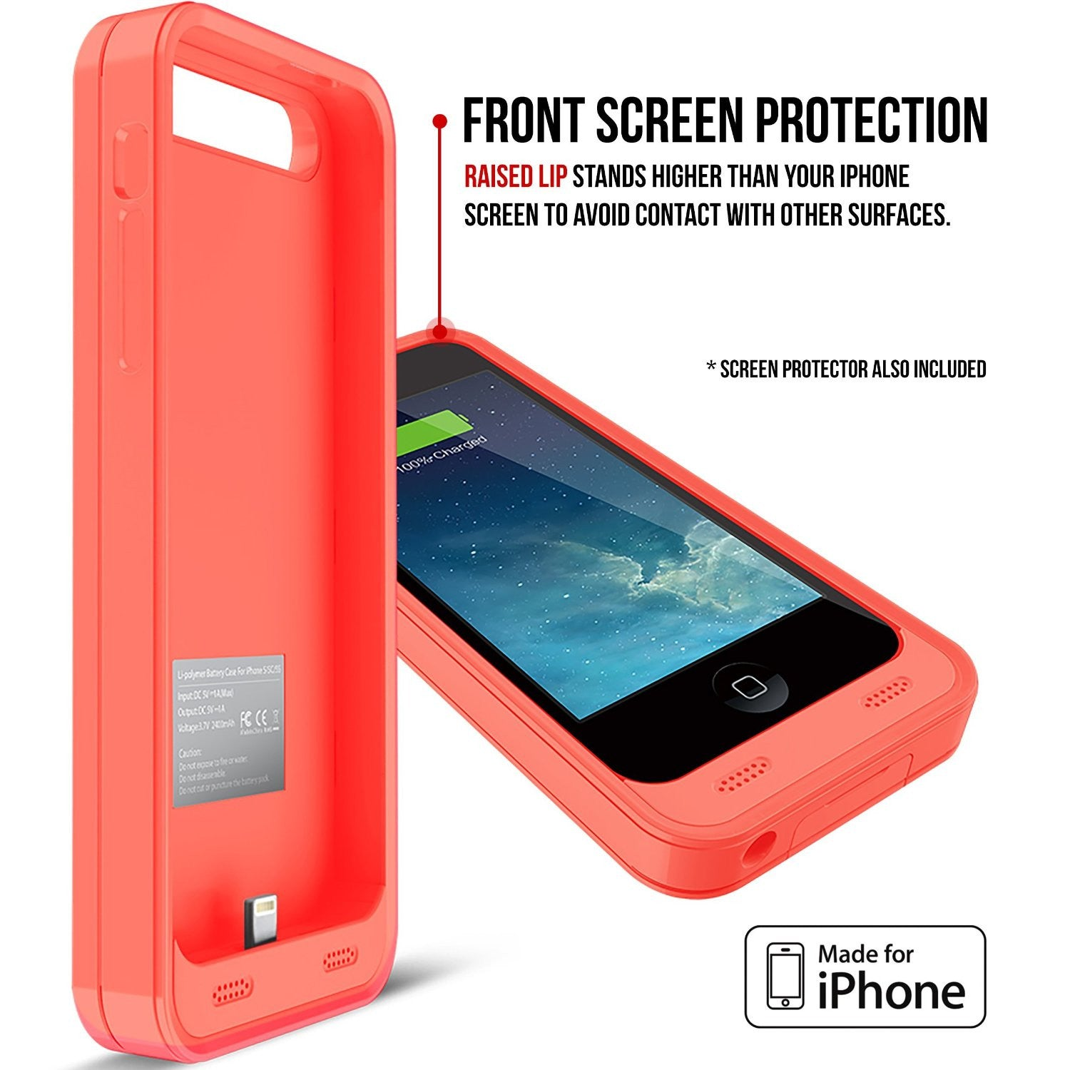 iphone 5c charging case reviews