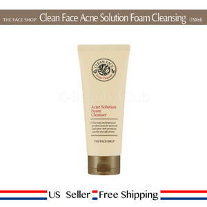 the face shop clean face acne solution foam cleansing review